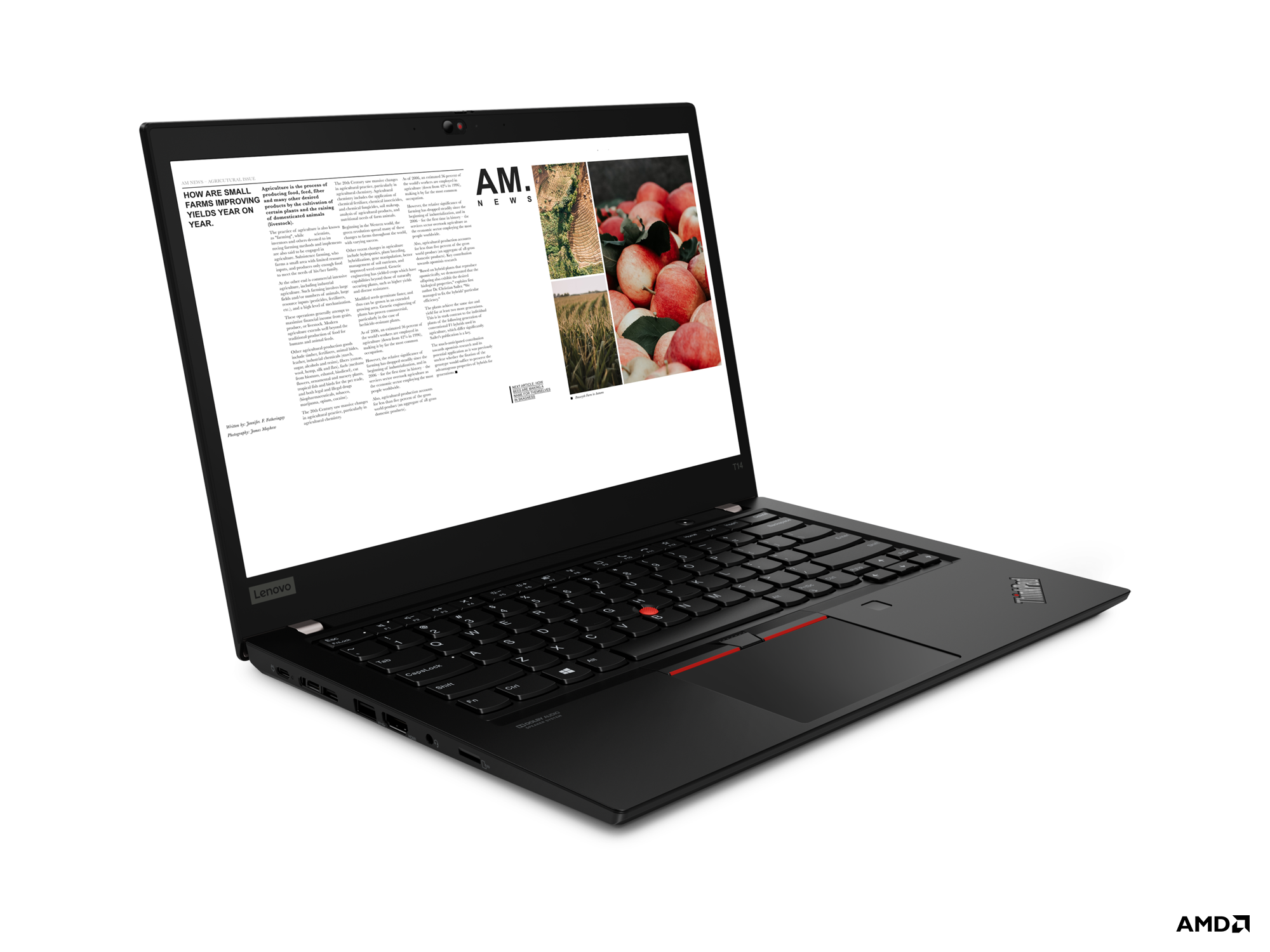 <b>Kompakte AMD Power!</b>: Lenovo ThinkPad T14<br>AMD Ryzen 5 PRO 4650U